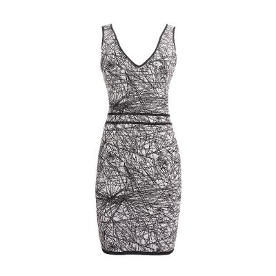 v neck body conscious midi dress grey